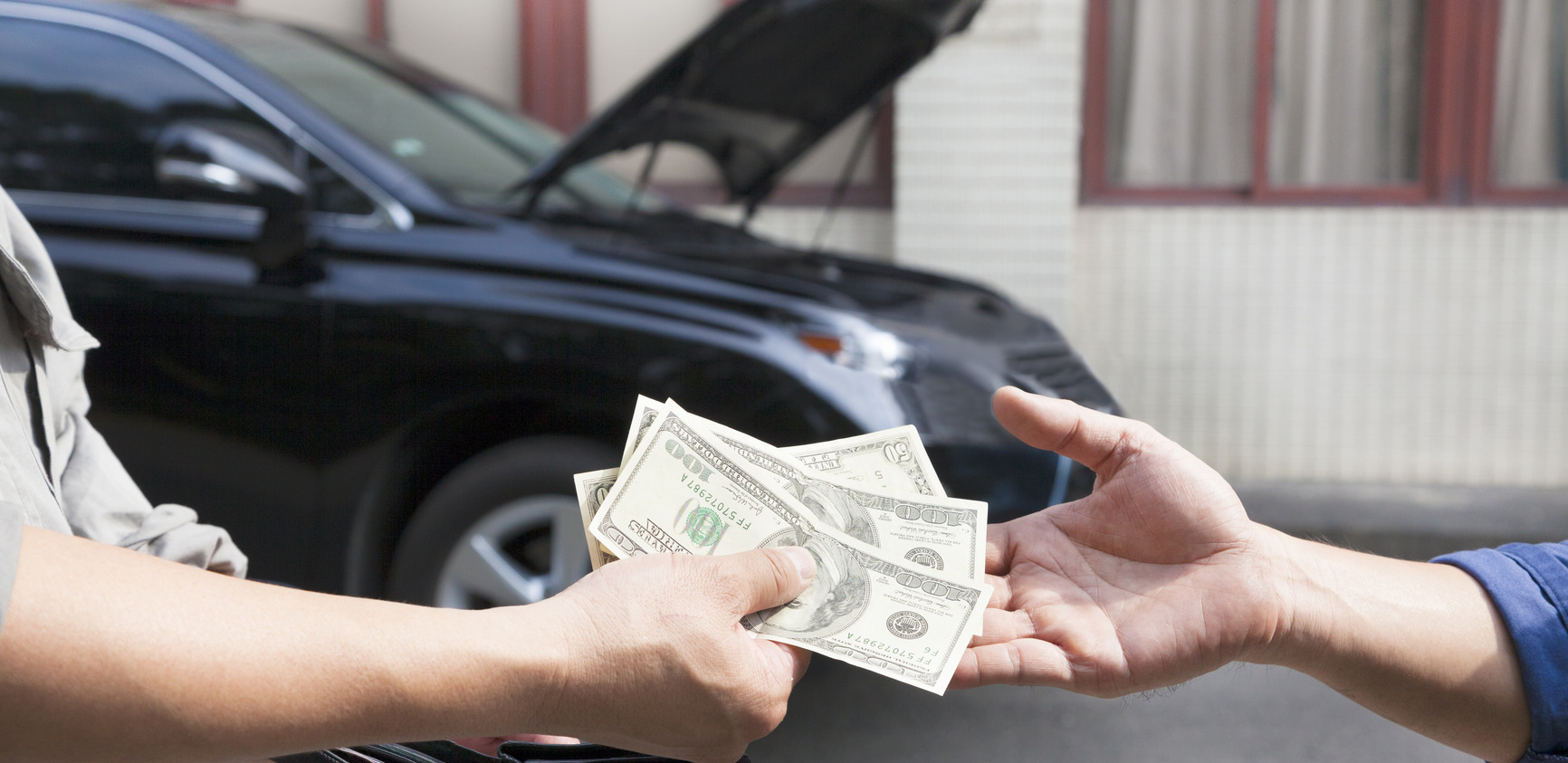 giving and taking money for car