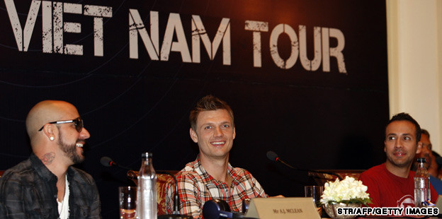 Backstreetboys on tour in  Vietnam