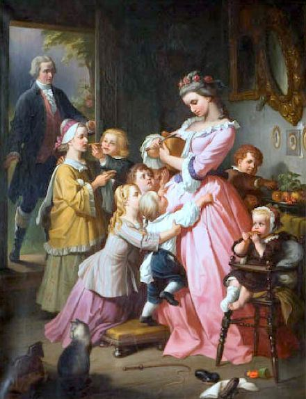 Colonial American Family