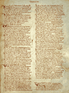 A page of the Domesday Book